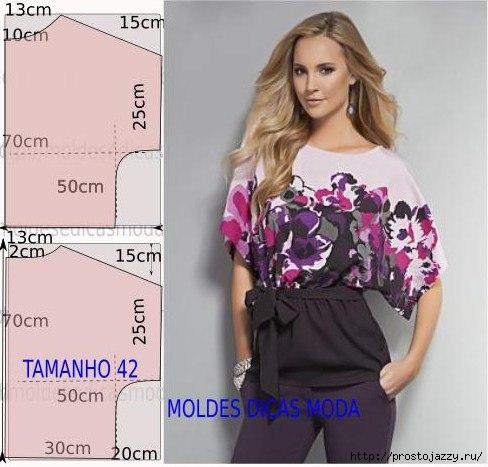 c98875e7da7 Простые выкройки летних блузок