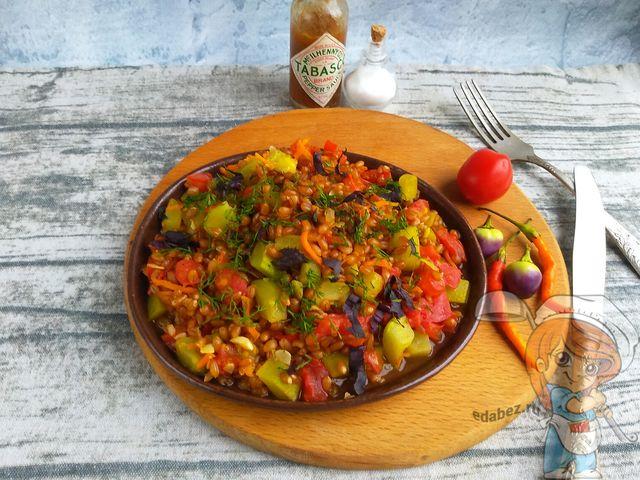 Каша из полбы с овощами - пошаговый рецепт