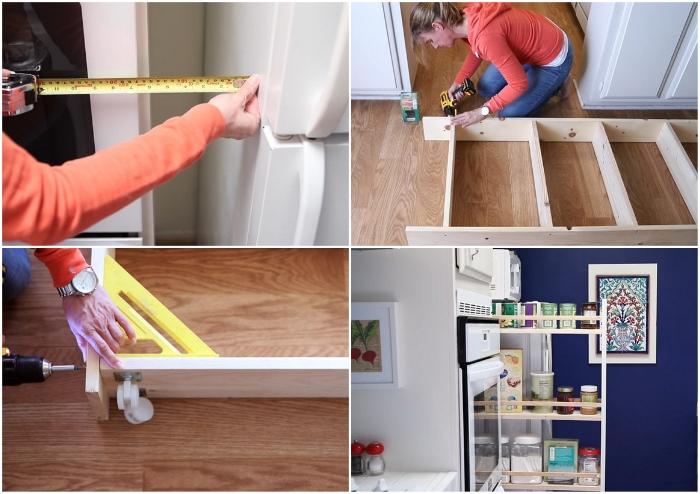 Как задействовать узкий пролет между холодильником и шкафом: мастер-класс от рукодельницы для дома и дачи,мебель