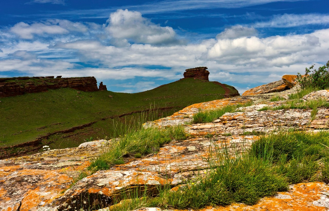 Республика Хакасия, горная гряда Сундуки.