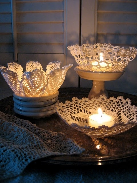 lace doily candleholder tutorial