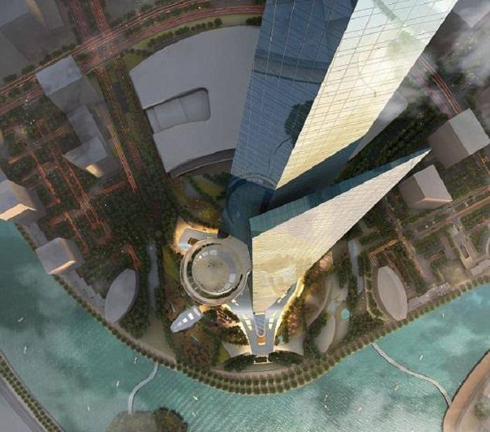 В Королевской башне планируют разместить не только офисы, но и жилые апартаменты и даже обсерваторию (Jeddah Economic City, Саудовская Аравия). | Фото: thetowerinfo.com.