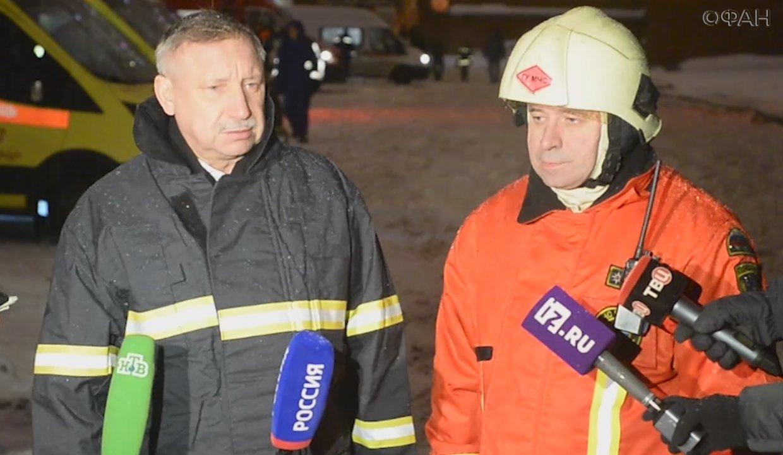 Беглов рассказал о ходе работ по разбору завалов после взрыва в типографии