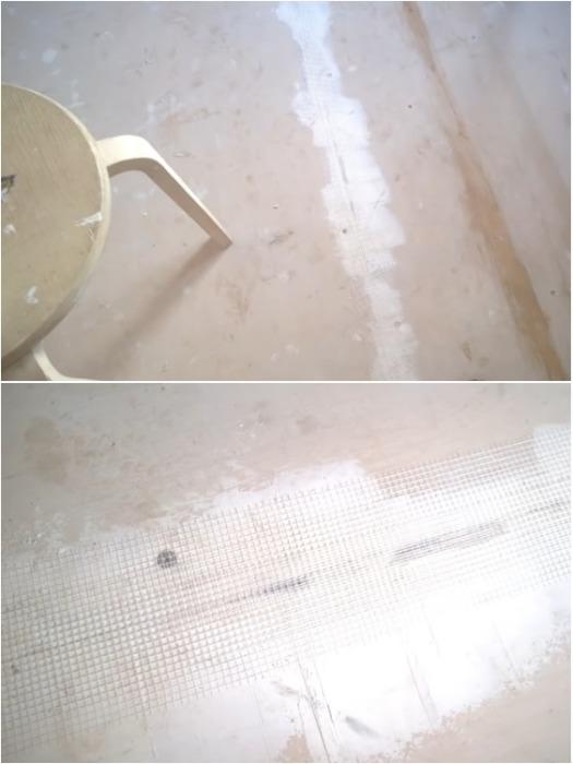 Копеечный способ сделать эксклюзивное напольное покрытие из обычных обоев идеи для дома,мастер-класс,напольное покрытие,ремонт и строительство,своими руками