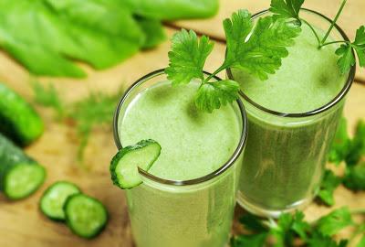 Полезные соки из зелени