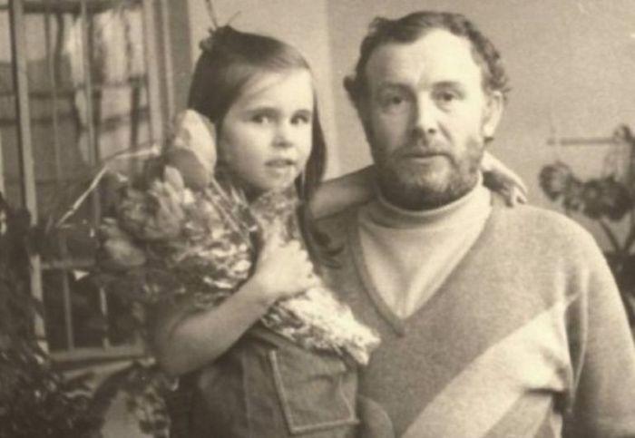 Иннокентий Смоктуновский с дочерью. / Фото: www.mtdata.ru