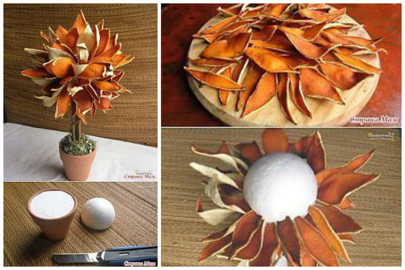 Апельсиновые корочки всячина, интересное, мастера, поделки, сделай сам, фантазия