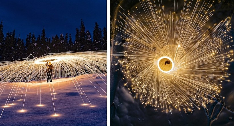 Потрясающие фото в технике светографики на воздушных снимках немецкого фотографа