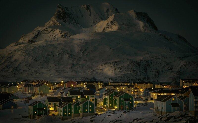 Город Нуук, зима гренландия, подборка, природа, путешествия, север, удивительное