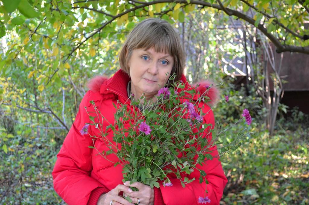 Хризантемы в саду...