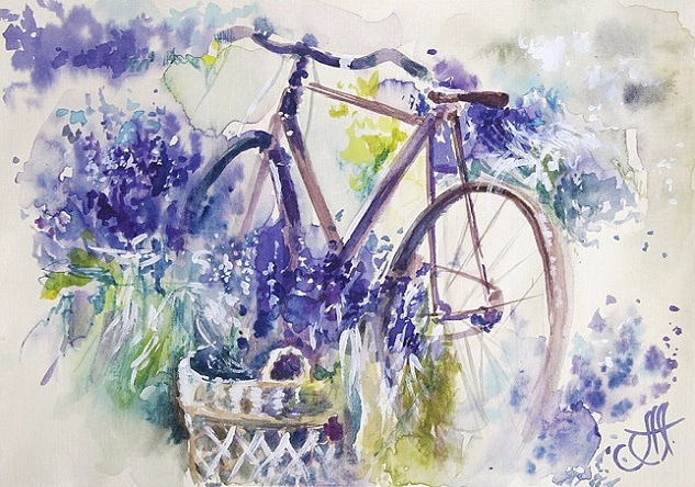 + Лавандовый велосипед (633x444, 373Kb)