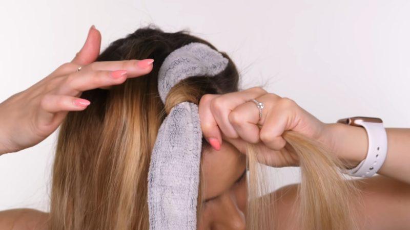 Супер-кудряшки с помощью… только пояса от халата рукоделие,своими руками,сделай сам
