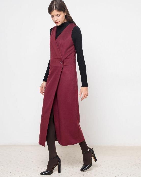 Платье-жилет для холодного времени года