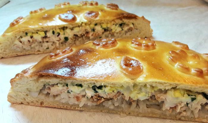 Рисовый пирог с курицей.  Фото: grib-info.ru.