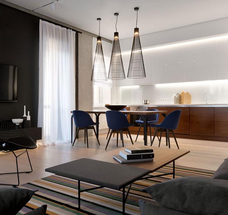 Минималистичная квартира в Днепре от Nott Design дерево в интерьере,квартира,минимализм,открытое пространство,современный стиль