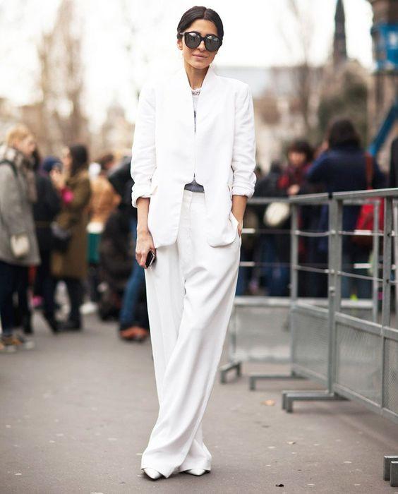 белые брюки палаццо
