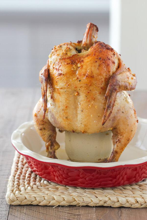 Гениальный способ приготовления курочки целиком, с хрустящей корочкой на банке в духовке блюда из курицы,кулинария,мясные блюда