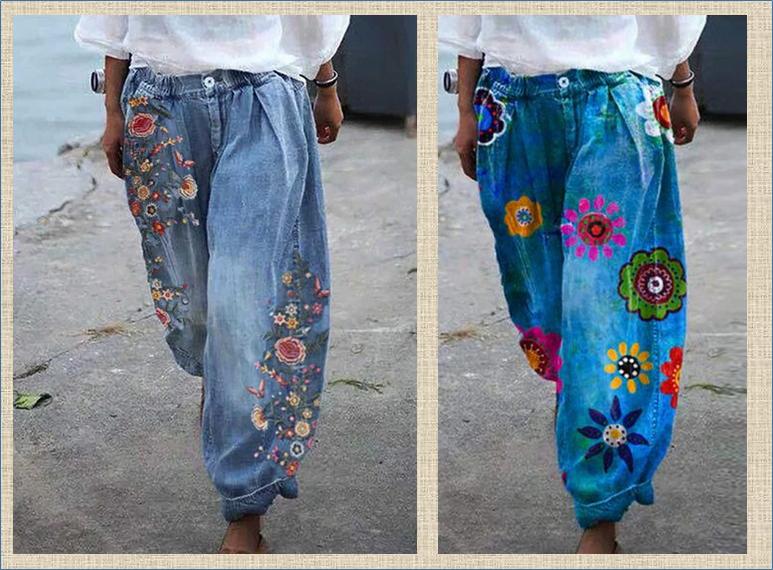 Джинсы с вышивкой - настоящий стиль настоящего лета - большая подборка для вашего вдохновения
