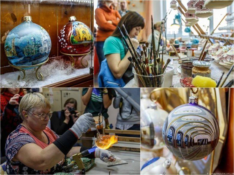 Как делают ёлочные игрушки на фабрике «Ариель»