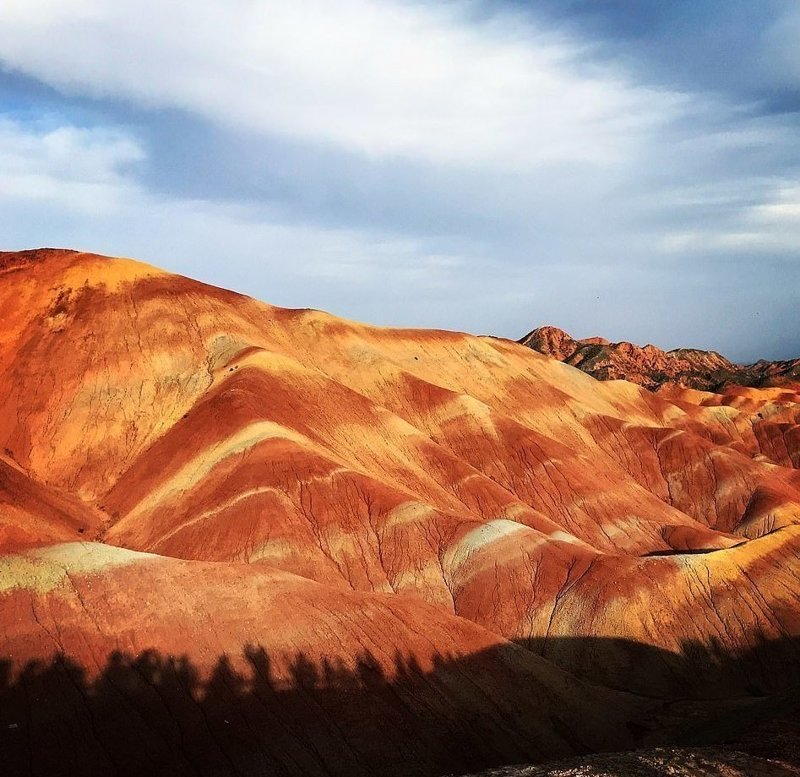 Национальный геопарк Чжанъе, расположенный недалеко от границы с Монголией виды, города, китай, красота, необыкновенно, пейзажи, удивительно, фото