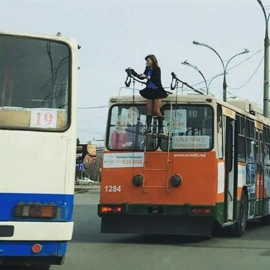Просто водитель троллейбуса в Кишинёве европа, кишинёв, молдавия, молдова, прикол, юмор