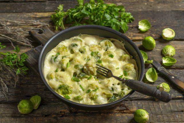 Брюссельская капуста в сливочном соусе под сырной корочкой кулинария,кухонька,рецепты