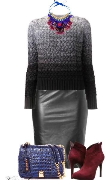 На заметку — 10 способов носить кожаную юбку-карандаш