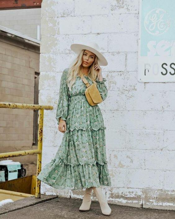 Платье в стиле Бохо: 15 идей как стильно носить гардероб,мода и красота,модные образы,одежда и аксессуары,стиль