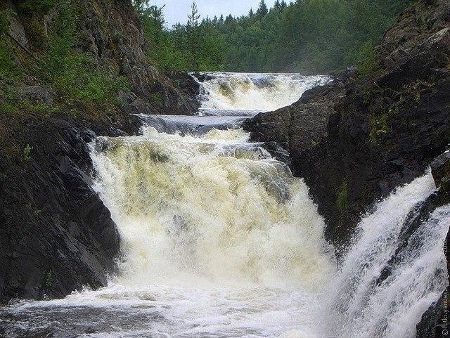 Водопад Кивач – природная жемчужина Карелии