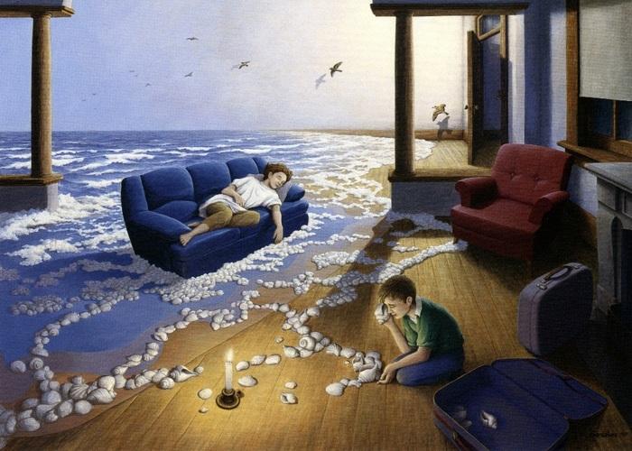 Магические иллюзии и живописные головоломки от художника-фантазёра