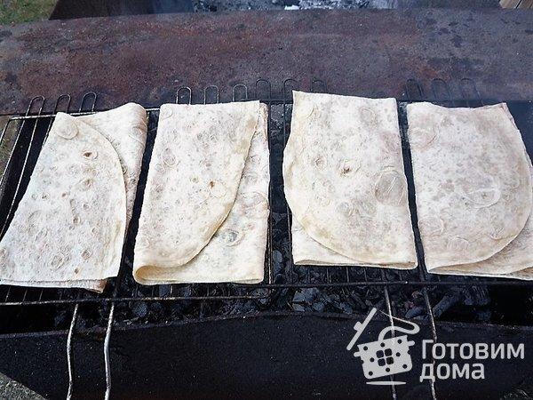 Лаваш с сыром на гриле фото к рецепту 7