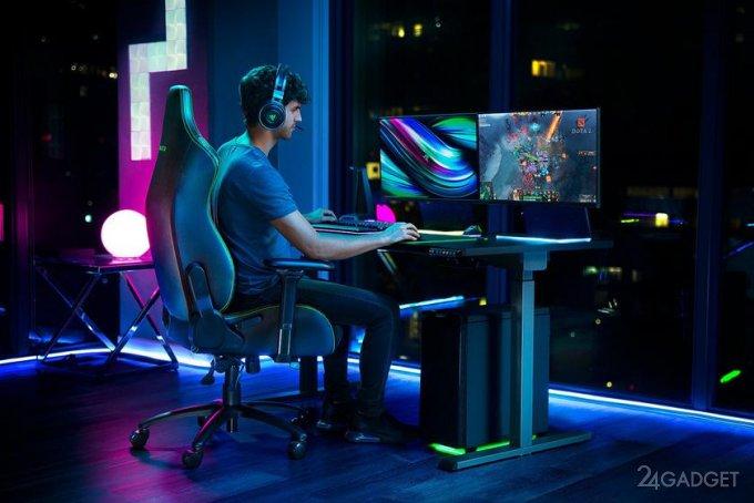 Игровое кресло Razer Iskur со встроенной поясничной опорой