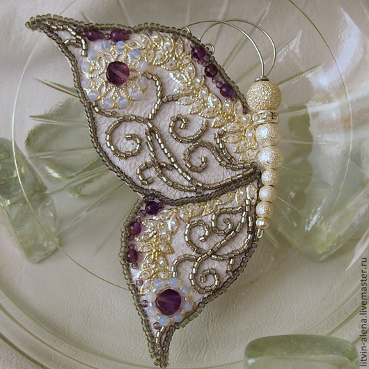 "Brooches handmade. Brooch ""Twilight frost"". Butterfly bead. master Alena Litvin. Online shopping on My Livemaster. insects"