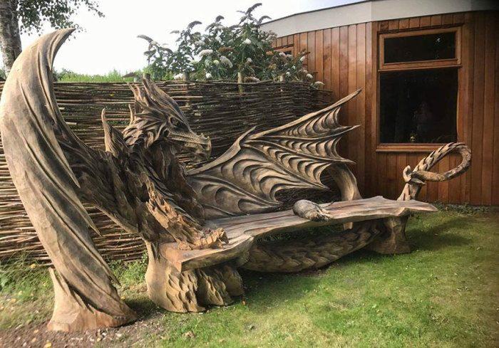 Фантастическая резьба по дереву