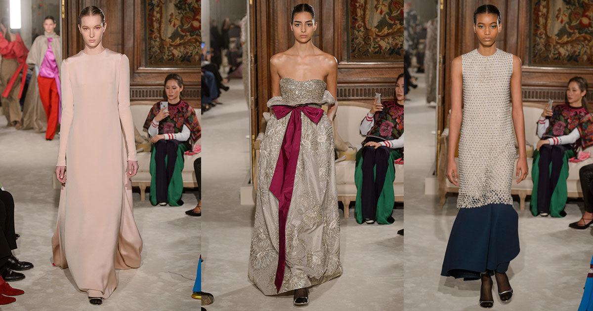 Кутюрная коллекция Valentino весна-лето 2018: цветотепария, монументализм, богемная роскошь