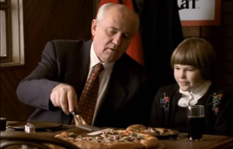 Горбачев рассказал, зачем снялся в рекламе американской пиццы в 90-х новости,события,новости,общество,политика