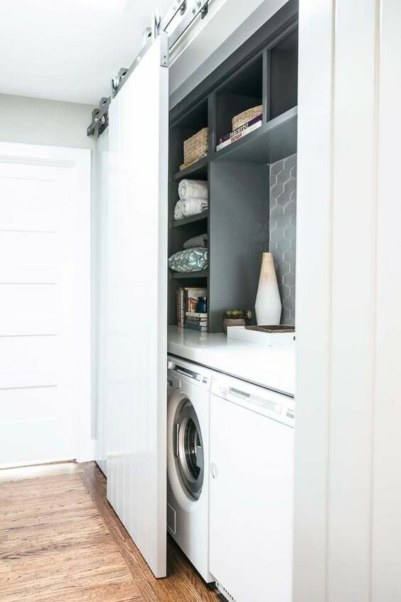 Идеи для хранения тазиков и всего, что связанно с уборкой и стиркой дизайн интерьера,полезные советы,разное