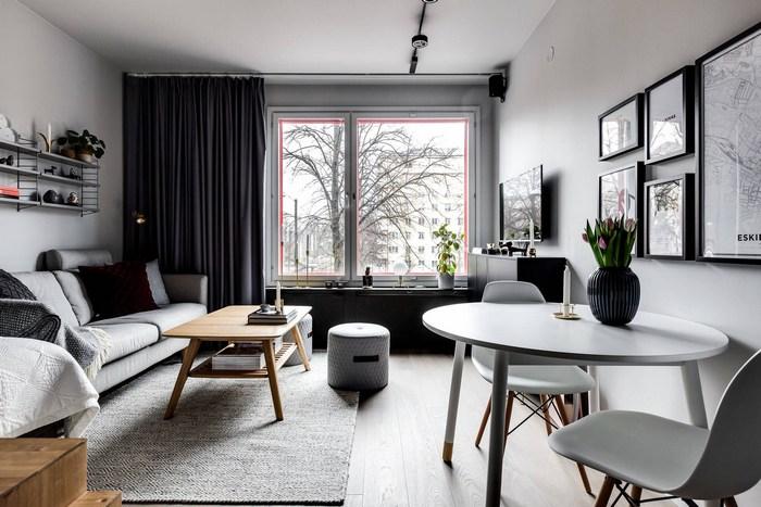 Лаконичный интерьер маленькой квартиры.