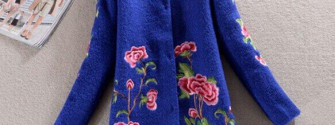 Пальто с вышивкой придаст вам уверенности, женственности, и шарма
