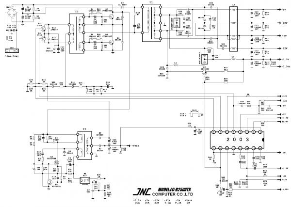 Схема компьютерного блока питания JNC