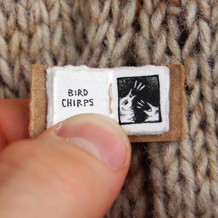 Чириканье птиц книга, миниатюра