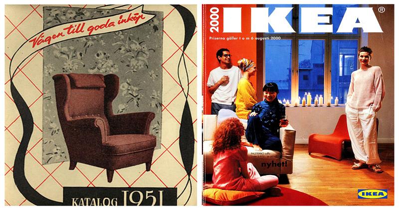 История домашнего дизайна во всей своей красе: каталоги IKEA с 1951 по 2000 год