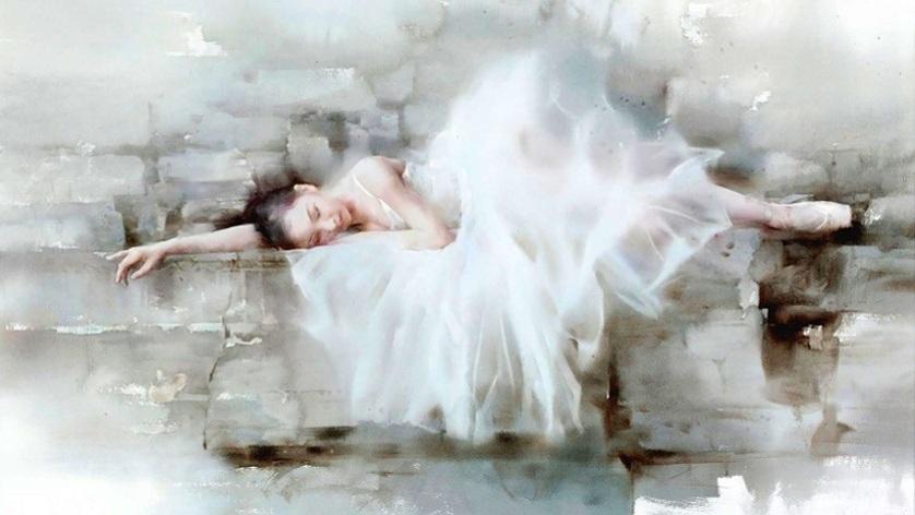 Liu Yi - Ballet dancer, watercolor