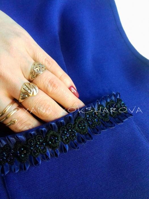 Идея отделки кармашка платья, просто и оригинально