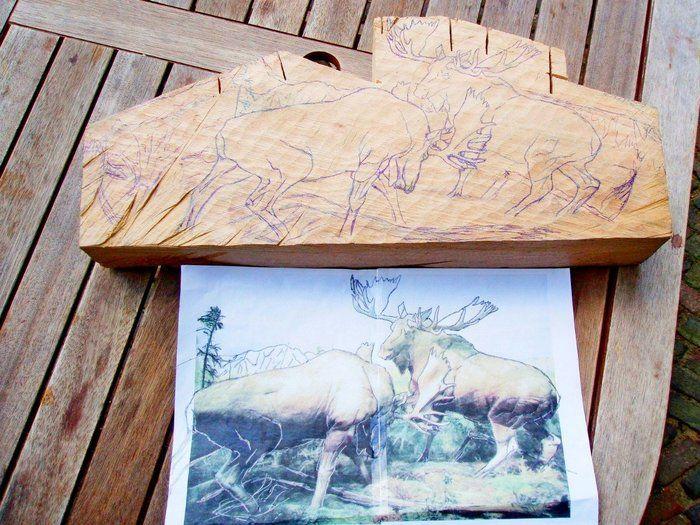 Обычный деревянный брусок превращается в прекрасную скульптуру