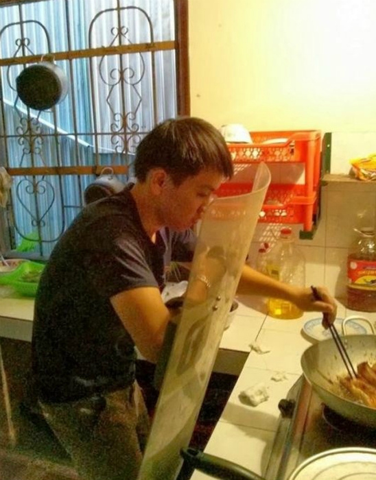 Без щита на кухню ни-ни! | Фото: Buune.
