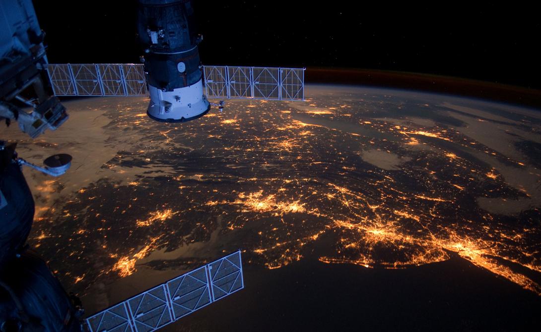 Следы нашей цивилизации с орбиты