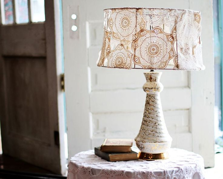 doily covered lamp shade