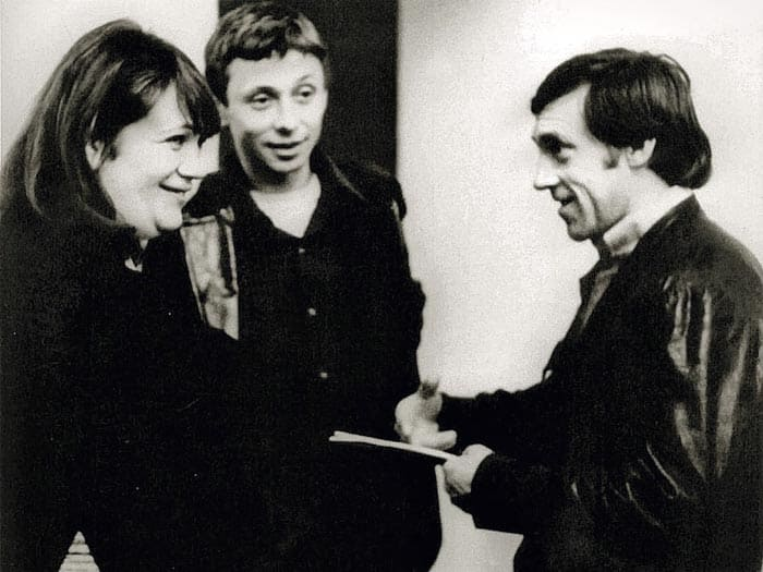 Галина Волчек, Олег Даль и Владимир Высоцкий, 1974   Фото: echo.msk.ru