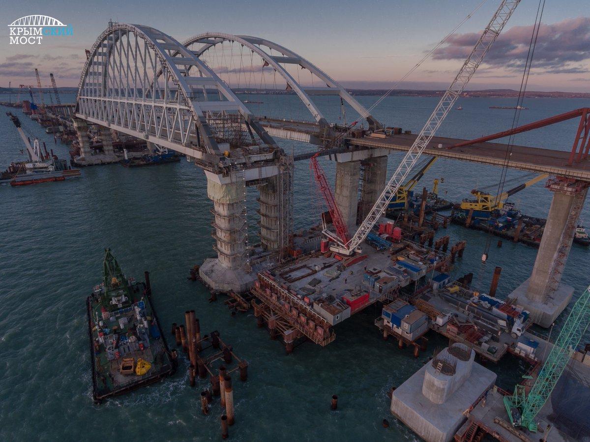 Крымский мост: панорама со с…
